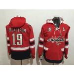 NHL Washington Capitals #19 Nicklas Backstrom Red All Stitched Hooded Sweatshirt