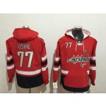 NHL Washington Capitals #77 T.J. Oshie Red All Stitched Hooded Sweatshirt