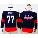 Women Washington Capitals #77 T.J. Oshie Navy 2018 Stadium Series Premier Jersey
