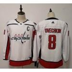 Women Washington Capitals #8 Alex Ovechkin White Adidas Jersey