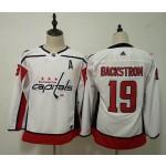 Women Washington Capitals #19 Nicklas Backstrom White Adidas Jersey