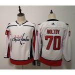Women Washington Capitals #70 Braden Holtby White Adidas Jersey