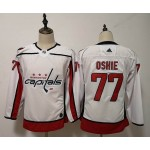 Women Washington Capitals #77 T.J. Oshie White Adidas Jersey