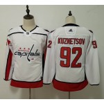 Women Washington Capitals #92 Evgeny Kuznetsov White Adidas Jersey