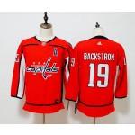 Women Washington Capitals #19 Nicklas Backstrom Red Adidas Jersey