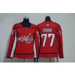 Women Washington Capitals #77 T.J. Oshie Red Adidas Jersey
