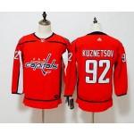 Women Washington Capitals #92 Evgeny Kuznetsov Red Adidas Jersey