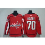 Women Washington Capitals #70 Braden Holtby Red Adidas Jersey