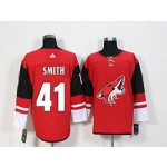 NHL Arizona Coyotes #41 Mike Smith Red adidas Jersey