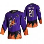 Arizona Coyotes #21 Derek Stepan Purple Men's Adidas 2020-21 Reverse Retro Alternate NHL Jersey