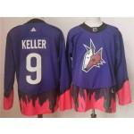 Arizona Coyotes #9 Clayton Keller Purple 2020-21 Reverse Retro Jersey