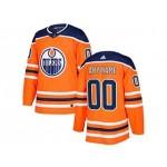 NHL Edmonton Oilers Customized Orange Adidas Jersey