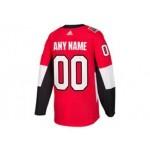NHL Ottawa Senators red Adidas Customized Jersey