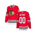 NHL Chicago Blackhawks Adidas red Customized Jersey
