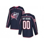 NHL Columbus Blue Jackets Blue Adidas Customized Jersey