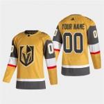 Men's Vegas Golden Knights Blank Gold 2020-21 Alternate Breakaway Customized Jersey