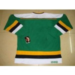 NHL throwback Minnesota North Star Customized Green Jersey