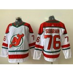 NHL New Jersey Devils #76 P.K. Subban White With Green Adidas Jersey