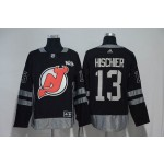 NHL New Jersey Devils #13 Nico Hischier Black 100th Centenal Classic Premier Jersey