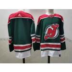 New Jersey Devils Blank Green Men's Adidas 2020-21 Reverse Retro Alternate NHL Jersey