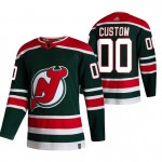 New Jersey Devils Custom Green Men's Adidas 2020-21 Reverse Retro Alternate NHL Jersey (Name and number remark in comment column)