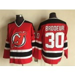 Men's New Jersey Devils #30 Martin Brodeur Red Throwback CCM Jersey