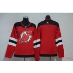 Women New Jersey Devils Blank Red Adidas Jersey
