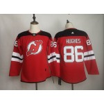 Youth New Jersey Devils #86 Jack Hughes Red Adidas Jersey