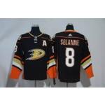NHL Anaheim Ducks #8 Teemu Selanne Black adidas Jersey