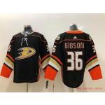 NHL Anaheim Ducks #36 John Gibson Black adidas Jersey