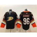 NHL Anaheim Ducks #96 Charlie Conway Black adidas Jersey