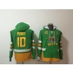 NHL Anaheim Ducks #10 Corey Perry Green All Stitched Hooded Sweatshirt