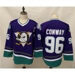 NHL Throwback Ducks #96 Charlie Conway Purple Reverse Retro Jersey