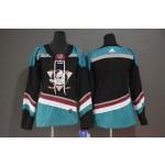 Women Anaheim Ducks Black Teal Alternate Jersey