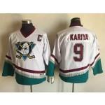 Youth Throwback Anaheim Ducks Paul Kariya #9 White 1990's Home Jersey