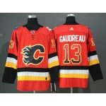 NHL Calgary Flames #13 Johnny Gaudreau Red Drift Fashion Adidas Jersey