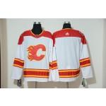 NHL Calgary Flames White Adidas Reissue Jersey