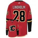 NHL Calgary Flames #28 Elias Lindholm Red Adidas Jersey