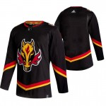 Calgary Flames Blank Black Men's Adidas 2020-21 Reverse Retro Alternate NHL Jersey
