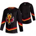 Calgary Flames Blank Black Men's Adidas 2020-21 Reverse Retro Alternate NHL Jersey