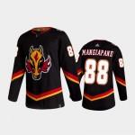 Men's Calgary Flames #88 Andrew Mangiapane 2020-21 Reverse Retro Black Authentic Jersey