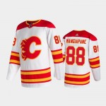 Men's Calgary Flames #88 Andrew Mangiapane Away White 2020-21 Authentic Pro Jersey