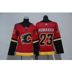 Women Calgary Flames #23 Sean Monahan Red Adidas Jersey