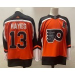 Philadelphia Flyers #13 Kevin Hayes Orange Men's Adidas 2020-21 Reverse Retro Alternate NHL Jersey