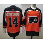 Philadelphia Flyers #14 Sean Couturier Orange Men's Adidas 2020-21 Reverse Retro Alternate NHL Jersey