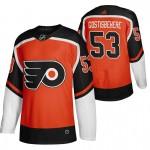 Philadelphia Flyers #53 Shayne Gostisbehere Orange Men's Adidas 2020-21 Reverse Retro Alternate NHL Jersey