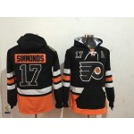 NHL Philadelphia Flyers #17 Wayne Simmonds Black All Stitched Hooded Sweatshirt