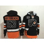 NHL Philadelphia Flyers #53 Shayne Gostisbehere Black All Stitched Hooded Sweatshirt