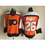 Men's Philadelphia Flyers #26 Brian Propp 1997-98 Orange CCM Throwback Jersey