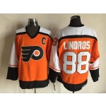 Men's Philadelphia Flyers #88 Eric Lindros 1997-98 Orange CCM Throwback Jersey